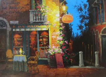 Canal And Cappuccino 2010 Embellished Limited Edition Print - Viktor Shvaiko