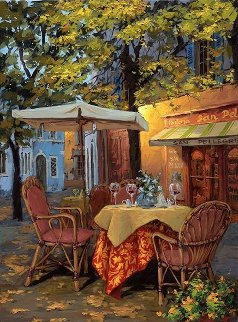 Piazza Di Viterbo Embellished 2010 Limited Edition Print by Viktor Shvaiko