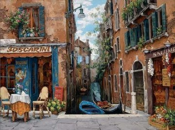 Venice in Bloom Embellished 2008 Limited Edition Print by Viktor Shvaiko