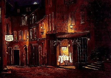 Moonrise At the Rodez 2000 Limited Edition Print - Viktor Shvaiko