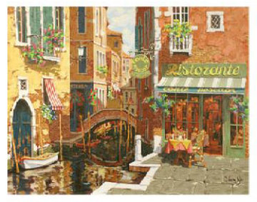 Rendezvous In Venice Embellished 2002 Limited Edition Print by Viktor Shvaiko