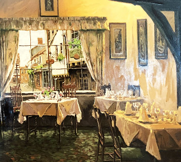 Afternoon Rendezvous 2001 Embellished Limited Edition Print - Viktor Shvaiko