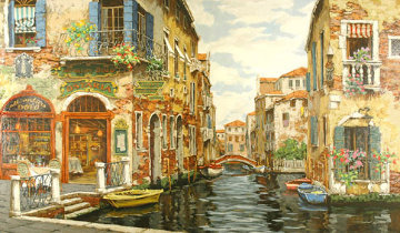 Dreams of Venice 2001 Embellished Limited Edition Print - Viktor Shvaiko