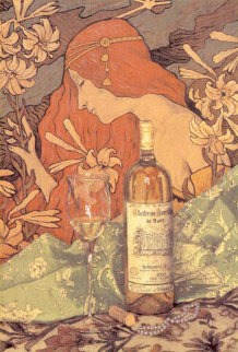 Bordeaux and Pearls 2004 Embellished Limited Edition Print by Viktor Shvaiko