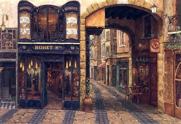 Carrer De Catalonia 1999 37x54 Super Huge  Limited Edition Print - Viktor Shvaiko
