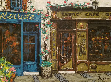 Cafe Tubac 1999 Embellished Limited Edition Print - Viktor Shvaiko