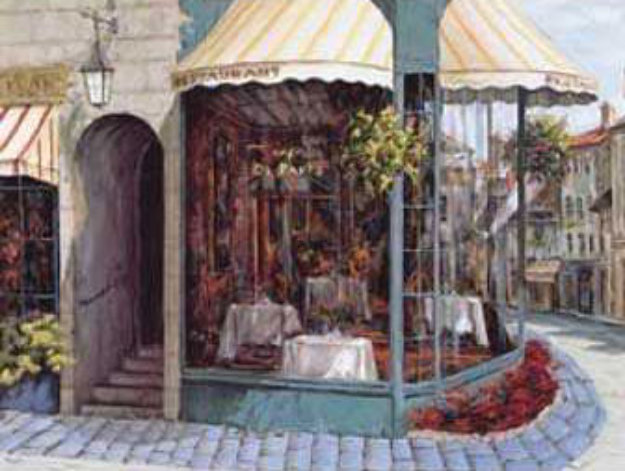 Cafe De Paris 1997 Embellished Limited Edition Print by Viktor Shvaiko