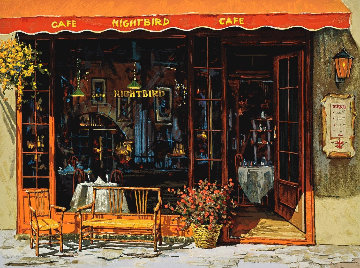 Nightbird Cafe Limited Edition Print - Viktor Shvaiko