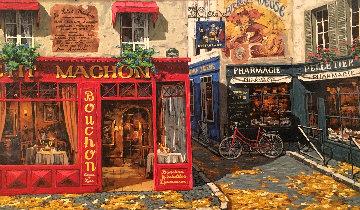 Parisian Street AP 1975 Limited Edition Print - Viktor Shvaiko