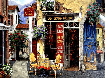 Le Grand Bistro 2009 Embellished Limited Edition Print by Viktor Shvaiko