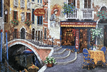 Osteria Da Fiore 2009 Embellished Limited Edition Print - Viktor Shvaiko