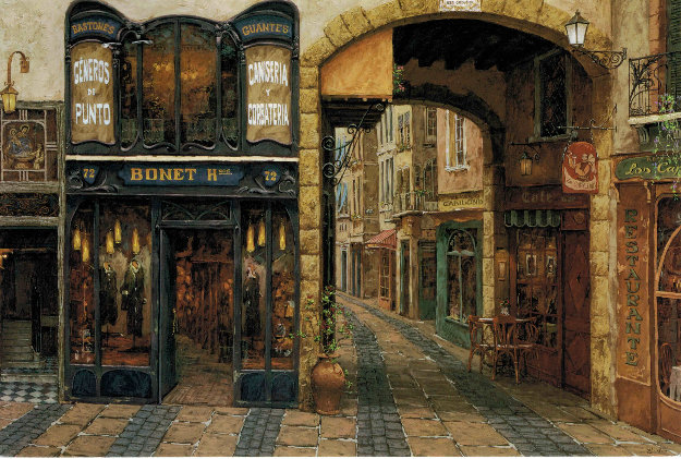 Carrer De Catalonia AP 1999 Embellished Limited Edition Print by Viktor Shvaiko
