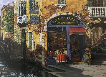 Venice Suite: Trattoria on the Water 2000 Limited Edition Print - Viktor Shvaiko