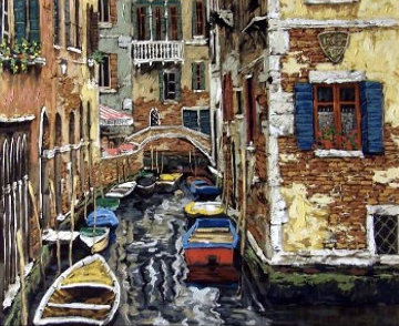 Boats of Venice 1999 Limited Edition Print - Viktor Shvaiko