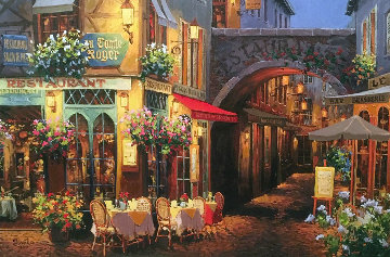 Evening in Provence 2004 Embellished  Limited Edition Print - Viktor Shvaiko
