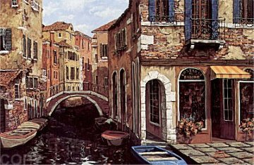 Autumn in Venice PP 1998 Super Huge Limited Edition Print - Viktor Shvaiko
