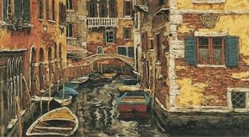 Boats of Venice PP Limited Edition Print - Viktor Shvaiko