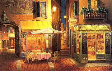 Evening in Verona Limited Edition Print by Viktor Shvaiko