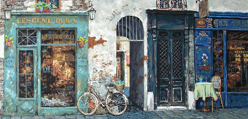 La Vielle Bicyclette De La Dame PP Super Huge Limited Edition Print - Viktor Shvaiko