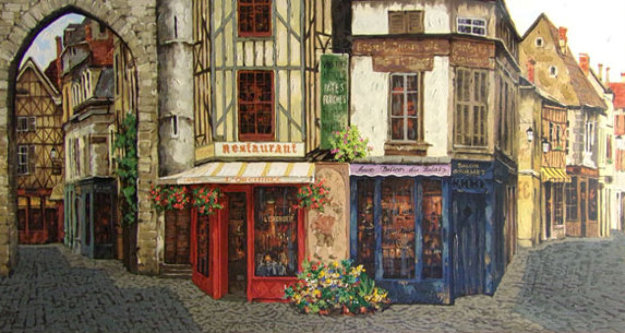 Salon De The PP Limited Edition Print by Viktor Shvaiko