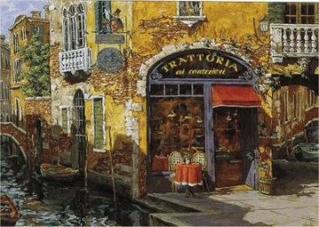 Trattoria on the Water PP Limited Edition Print - Viktor Shvaiko