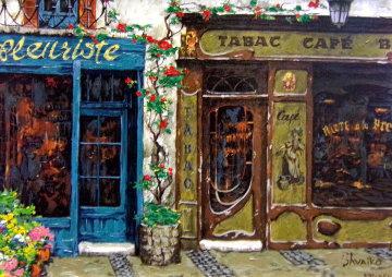 Les Bijoux De Paris Suite: Cafe Tabac   PP Limited Edition Print - Viktor Shvaiko