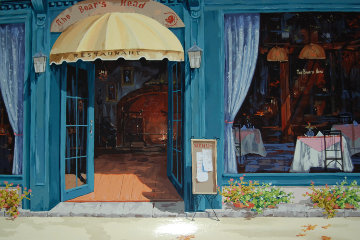 Boars Head Restaurant, Carmel Embellished Limited Edition Print - Viktor Shvaiko