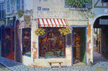 Le Relais AP 1999 Embellished Limited Edition Print by Viktor Shvaiko