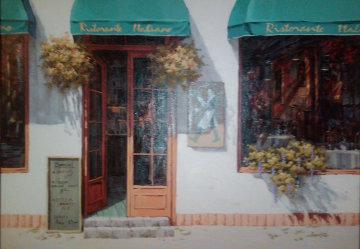 Ristorante Italiano 1989 32x44 Original Painting - Viktor Shvaiko