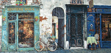 La Vielle Bicyclette De La Dame Embellished Limited Edition Print by Viktor Shvaiko