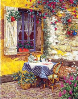 Garden Lace Canvas Deluxe 2002 Limited Edition Print by Viktor Shvaiko