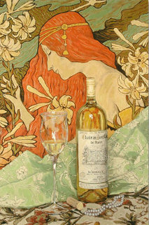 Bordeaux and Pearls Embellished Limited Edition Print by Viktor Shvaiko