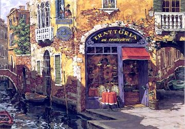 Trattoria on the Water 1999 Limited Edition Print - Viktor Shvaiko