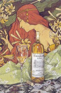 Bordeaux and Pearls 2003 30x44 Huge Original Painting - Viktor Shvaiko