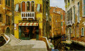 Sunny Day in Venice AP 1998 Limited Edition Print - Viktor Shvaiko