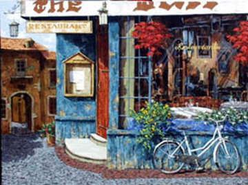 Mary's Cafe 48x36 Super Huge Original Painting - Viktor Shvaiko