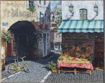 Le Bilboquet, France 30x24 Original Painting - Viktor Shvaiko
