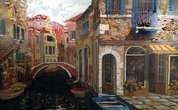 Autumn in Venice 1998 Embellished Limited Edition Print by Viktor Shvaiko