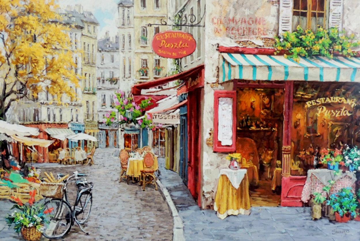 Salon De Puszia 2006 35x47 Super Huge Original Painting by Viktor Shvaiko