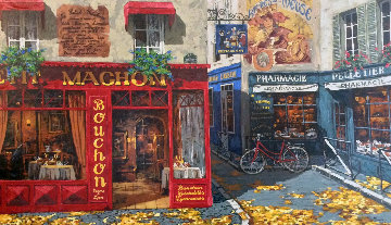 Autumn in Paris 2000 Embellished Limited Edition Print - Viktor Shvaiko