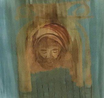 Mediterranean Theme (Veronica's Vale) 2001 17x20 Original Painting - Sidney Nolan