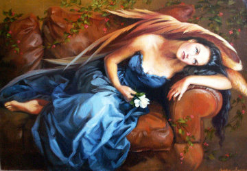 Promise 2002 31x39 Original Painting - Debra Sievers
