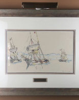 Three Boats Watercolor 1913 26x25 Watercolor by Paul Signac - 1