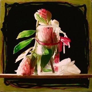 Soglia DI Luce 2013 35x45  Huge Original Painting - Pietro Signorelli