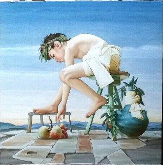 l'Innocente Stupore 2015 34x34 Original Painting - Pietro Signorelli
