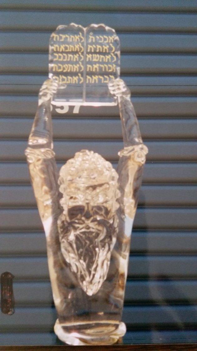 Moses Glass Sculpture Unique 60 in Sculpture by Pino Signoretto