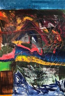 Back in Germany 2008  70x84 Original Painting - Theos Sijrier