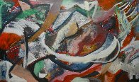Untitled Abstract Painting 2011 47x78 Super Huge Original Painting by Theos Sijrier - 1