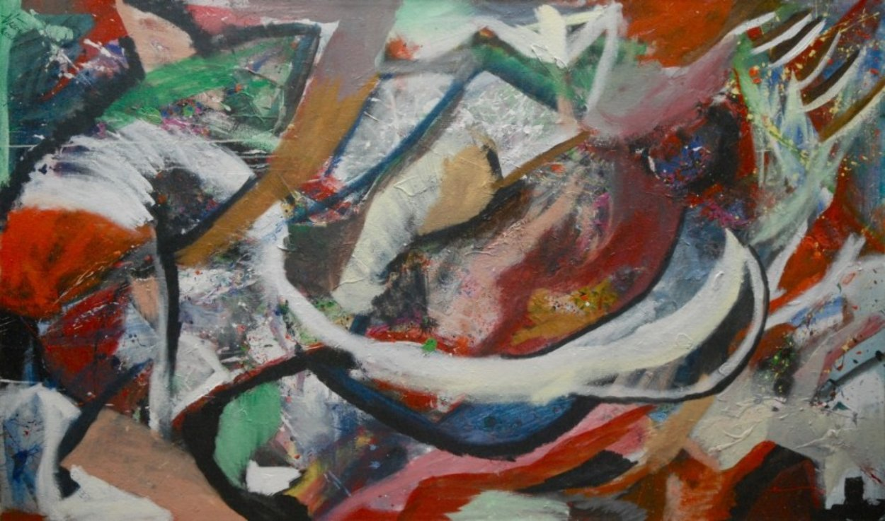 Untitled Abstract Painting 2011 47x78 Super Huge Original Painting by Theos Sijrier
