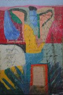 The Garden Around the House 2011 59x39 Super Huge Original Painting by Theos Sijrier - 2